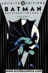 Batman Archives ($39.95 cover)